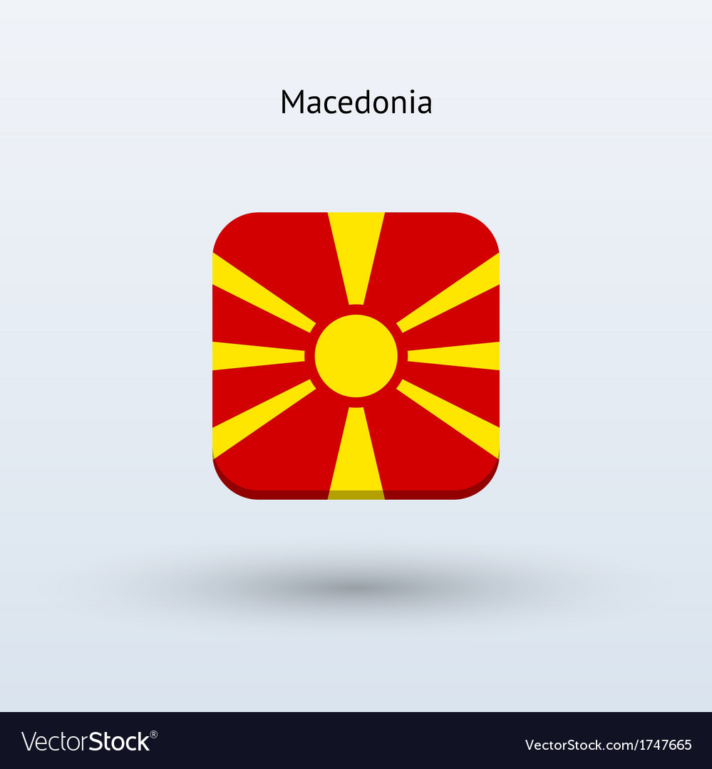 Macedonia flag icon vector | Price: 1 Credit (USD $1)
