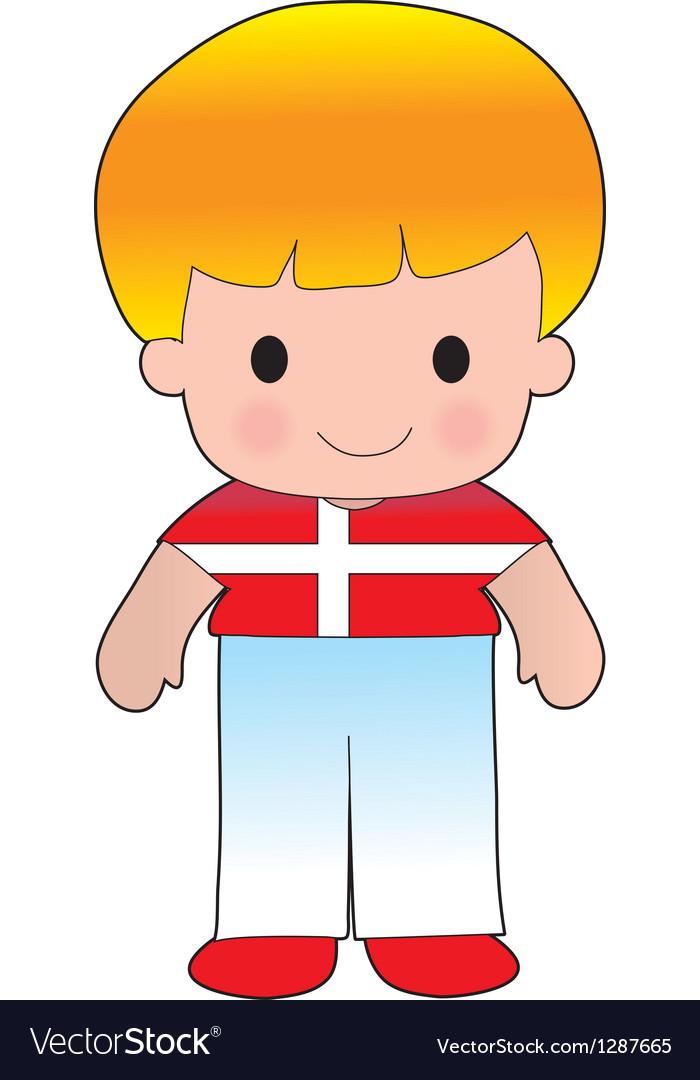 Poppy denmark boy vector | Price: 1 Credit (USD $1)