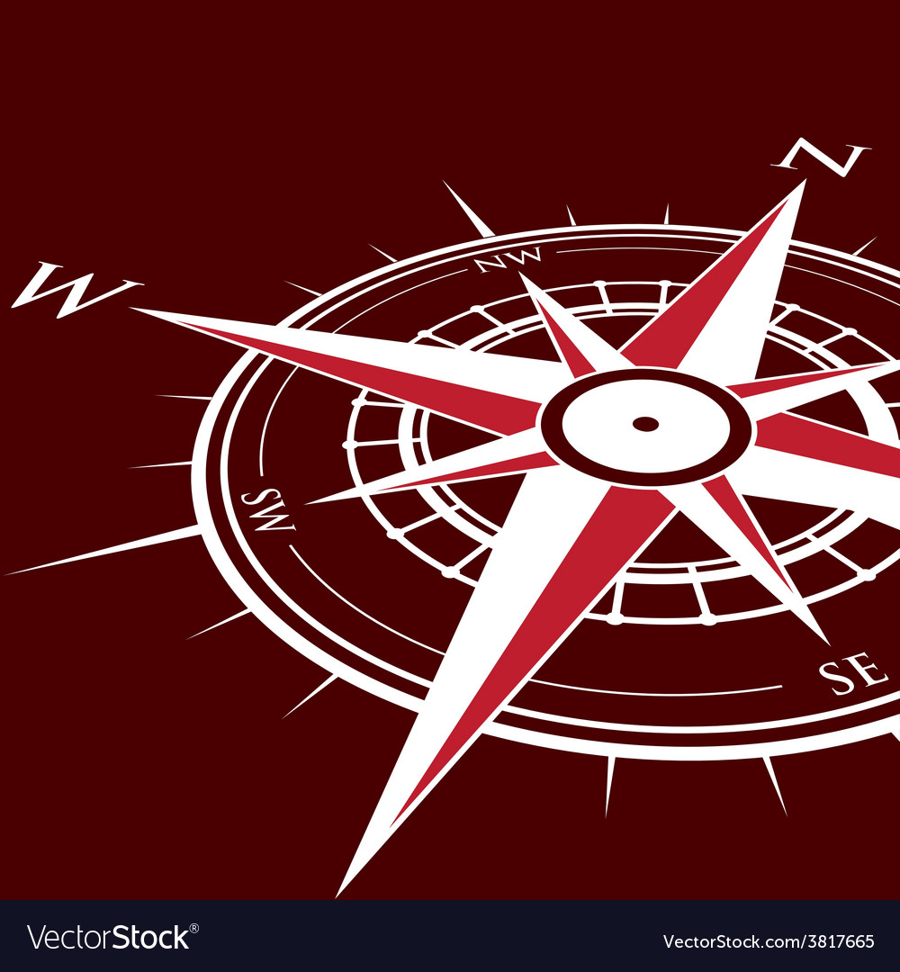 Red compass vector | Price: 1 Credit (USD $1)