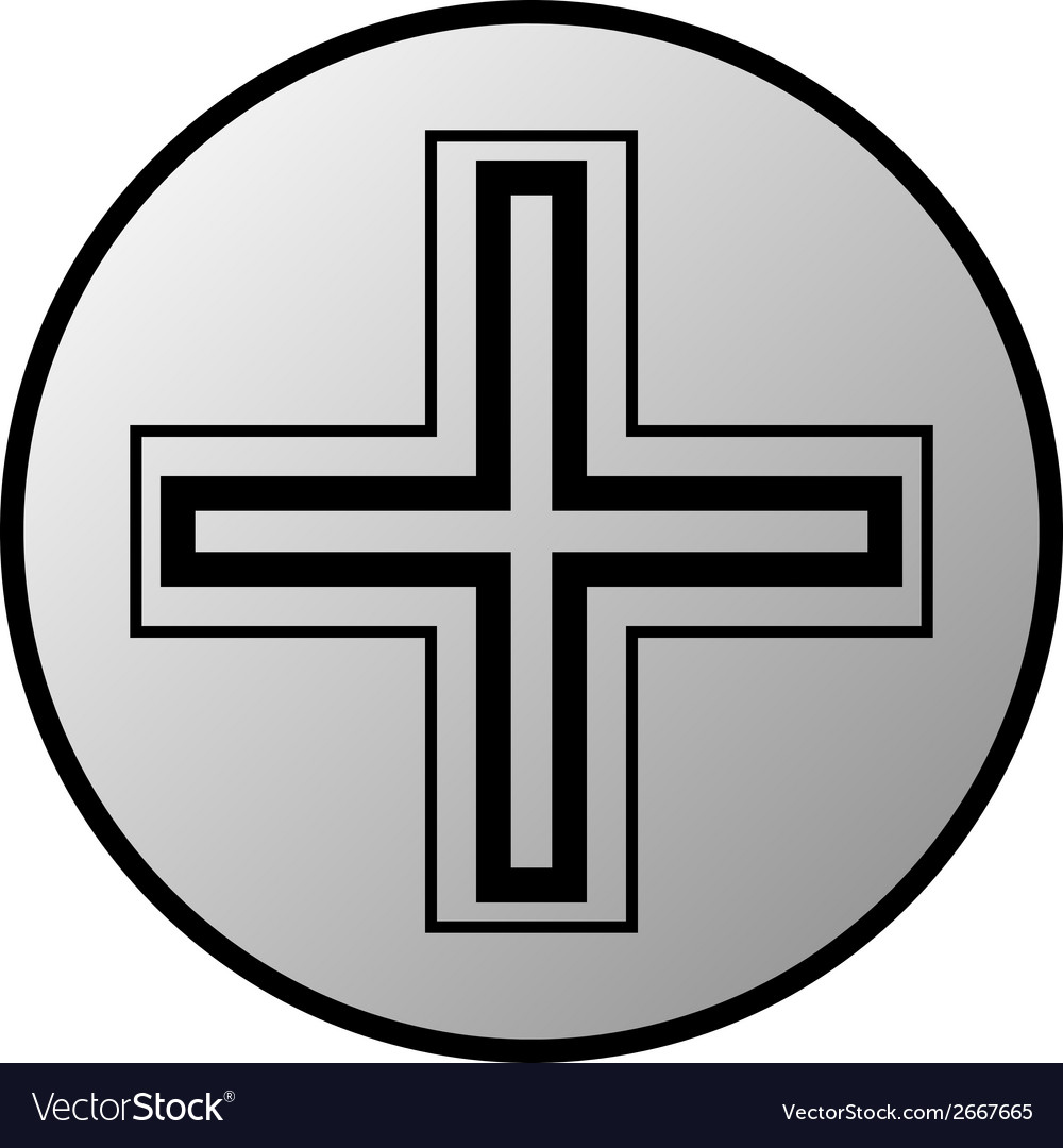 Religious cross button vector | Price: 1 Credit (USD $1)