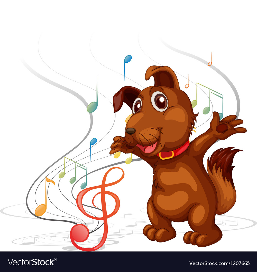 Singing dog vector | Price: 1 Credit (USD $1)