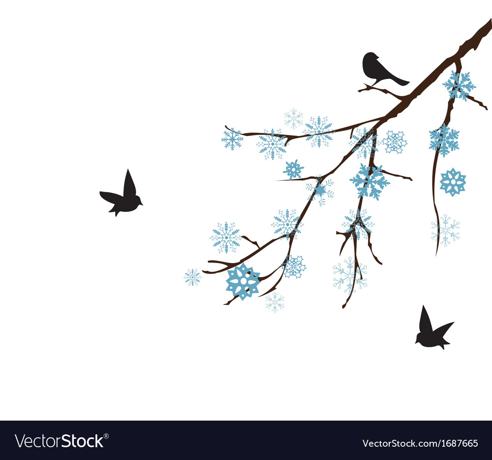 Snow branch vector | Price: 1 Credit (USD $1)