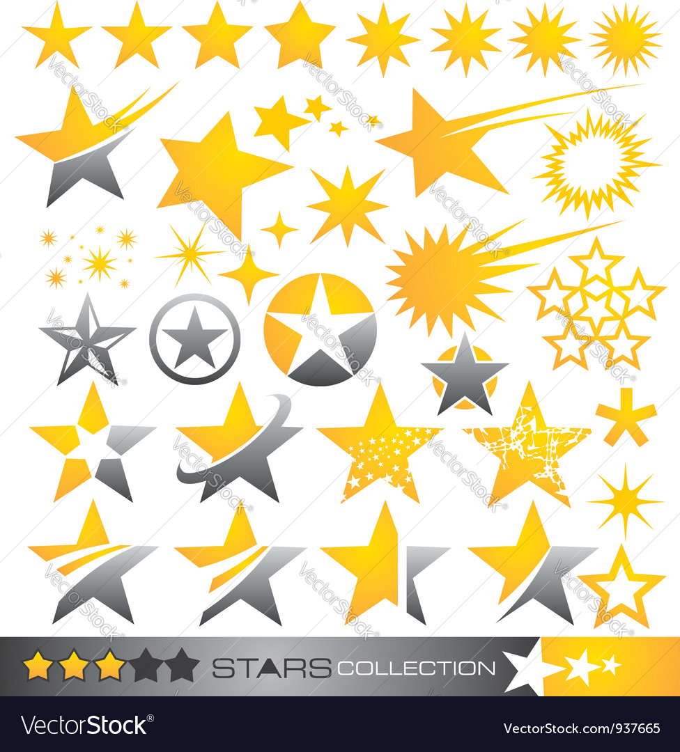 Star icon and logo collection vector | Price: 1 Credit (USD $1)