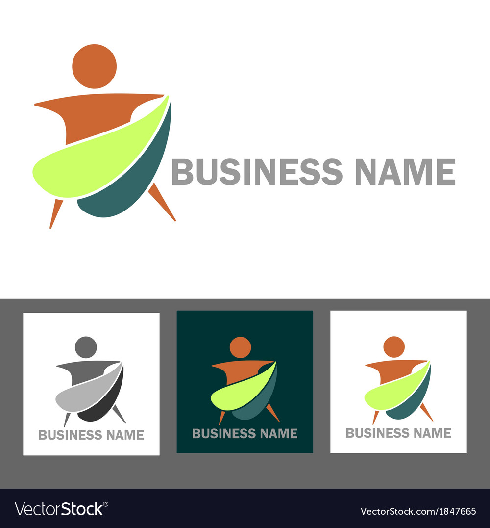 Wellness and health business logo vector | Price: 1 Credit (USD $1)