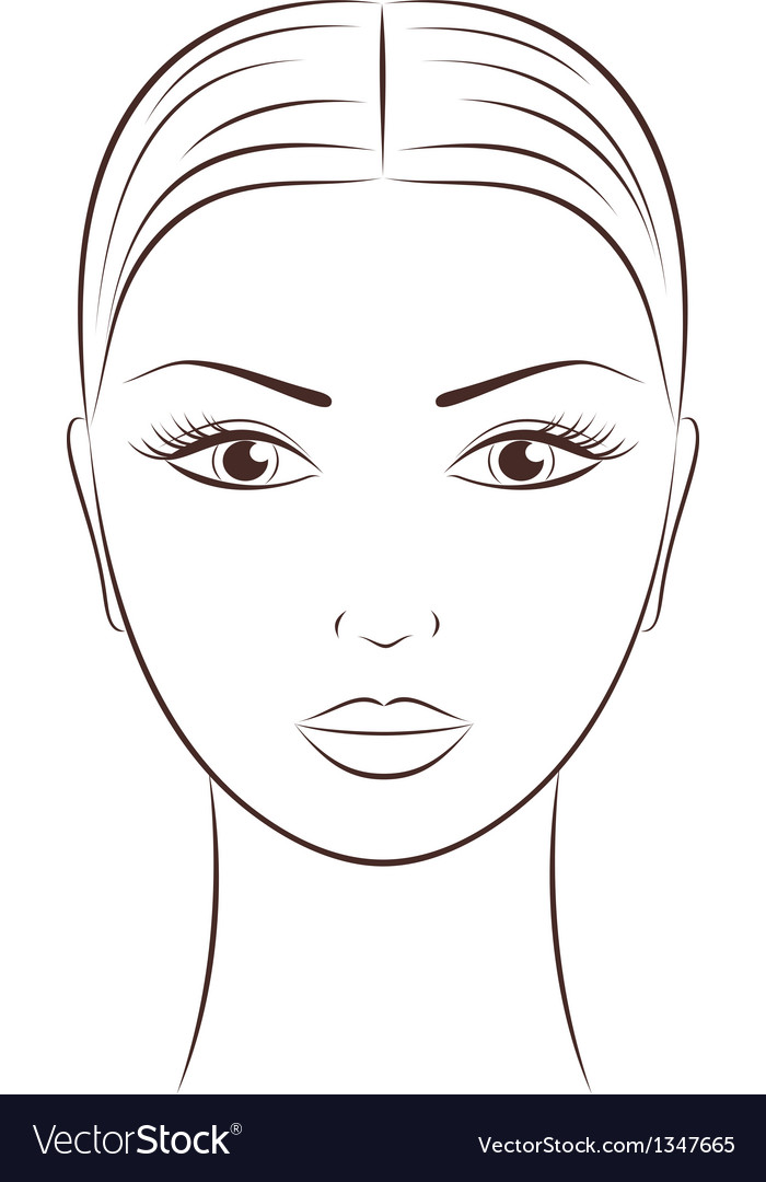 Women s face vector | Price: 1 Credit (USD $1)