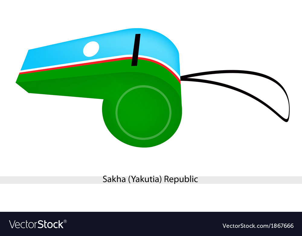 A beautiful whistle of the sakha republic vector | Price: 1 Credit (USD $1)