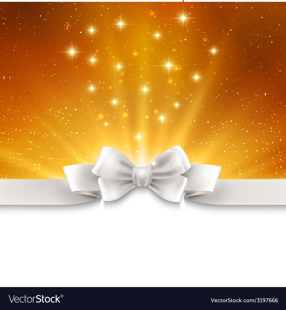 Abstract magic gold light background with white vector | Price: 1 Credit (USD $1)