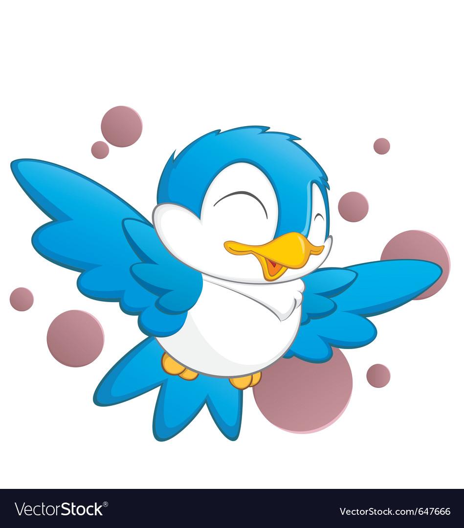 Cute cartoon bird vector | Price: 3 Credit (USD $3)