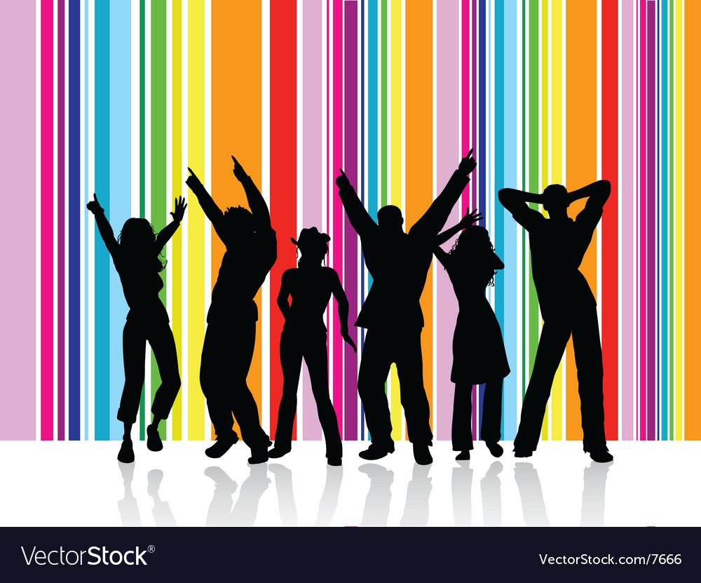 Dancing people vector | Price: 3 Credit (USD $3)