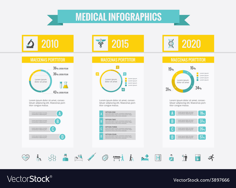 Healthcare infographic elements vector | Price: 3 Credit (USD $3)