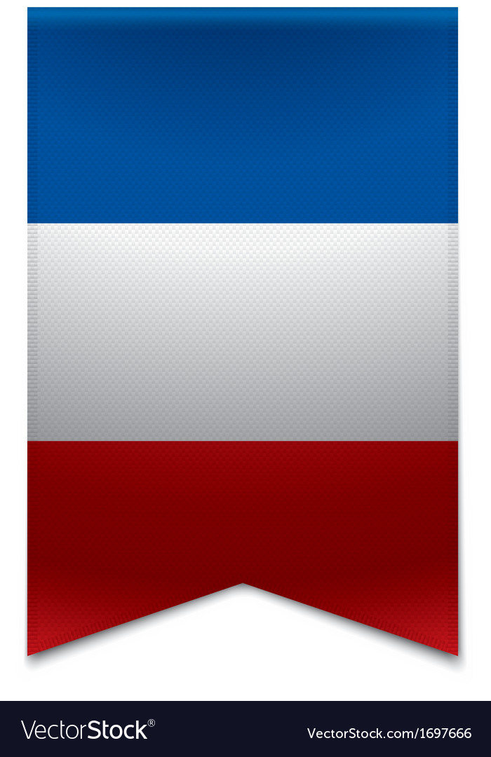 Ribbon banner - french flag vector | Price: 1 Credit (USD $1)