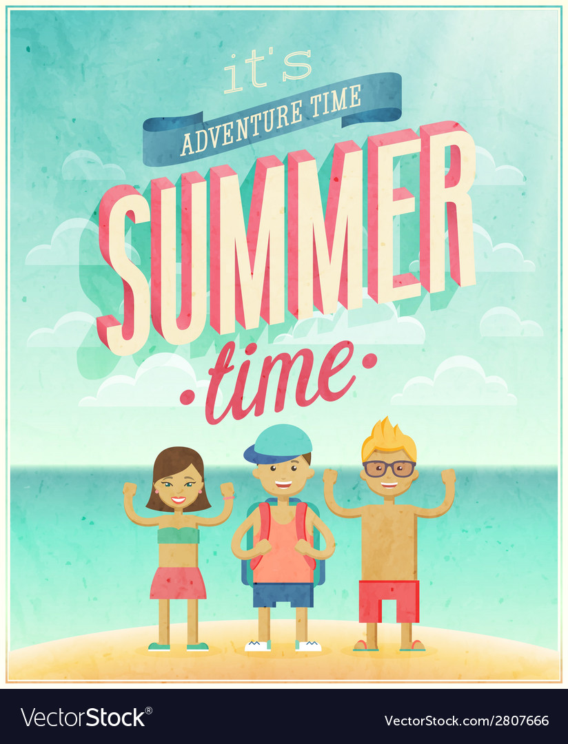 Summer time sea vector | Price: 1 Credit (USD $1)