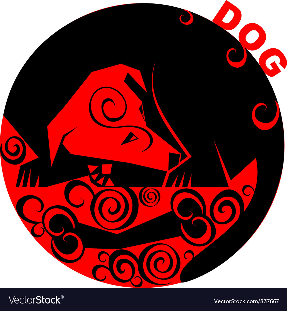 Chinese horoscope dog vector   Price: 1 Credit (USD $1)