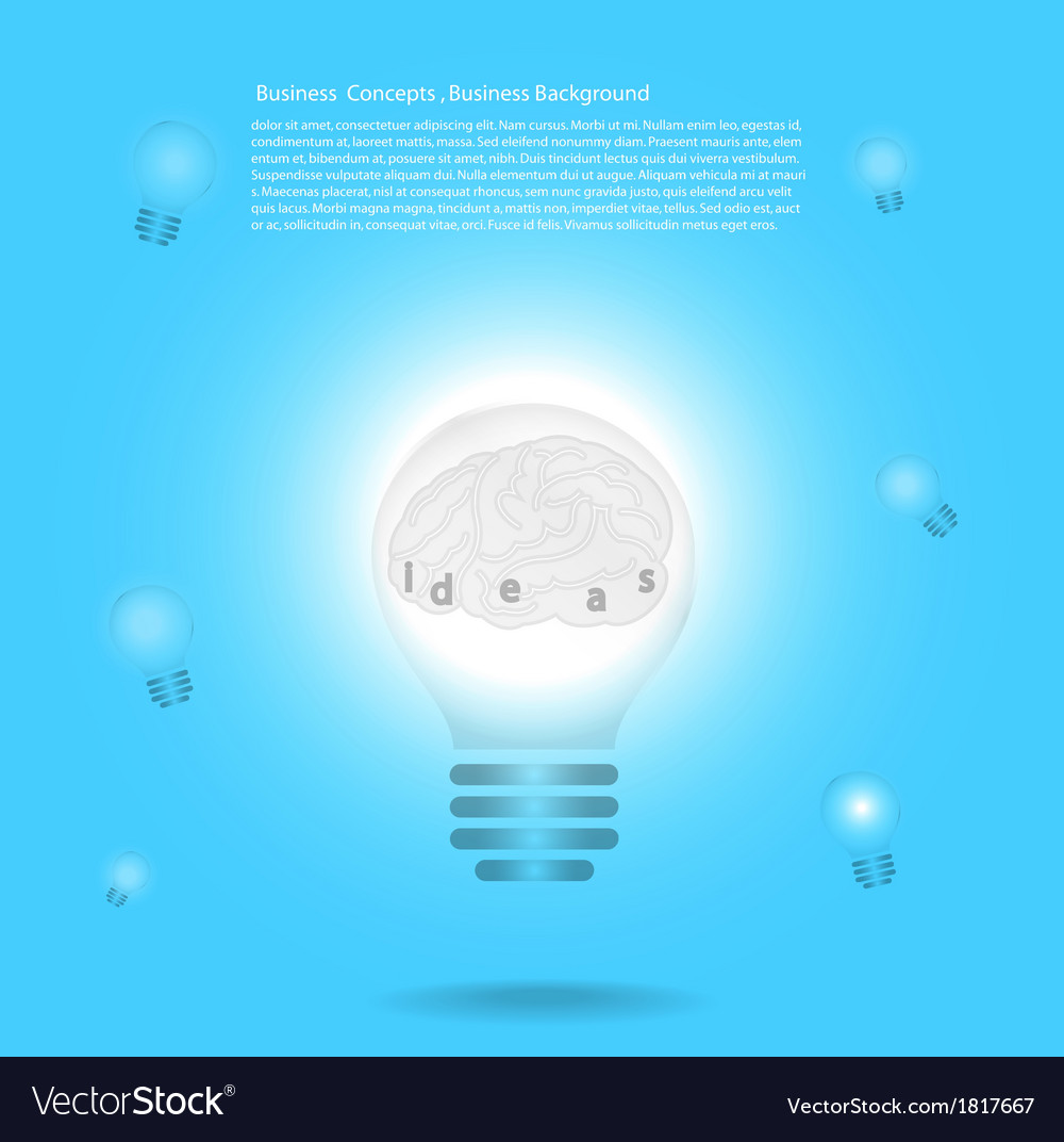 Creative template with lamp bulb symbols vector | Price: 1 Credit (USD $1)