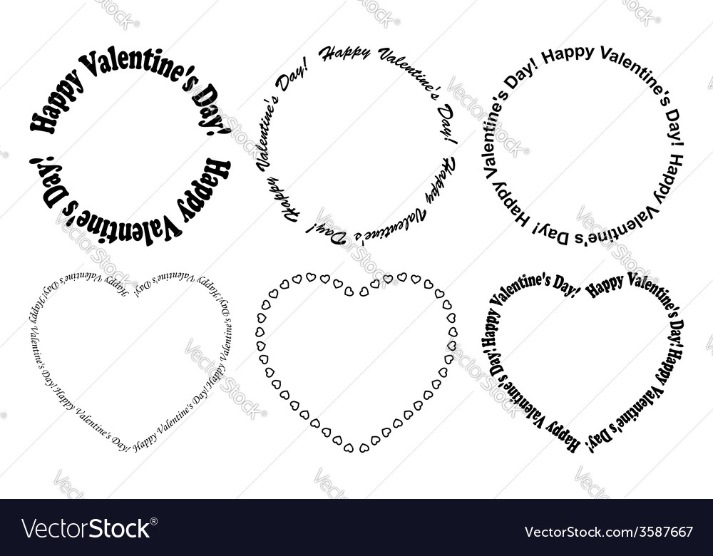 Decorative frames - happy valentine day vector | Price: 1 Credit (USD $1)