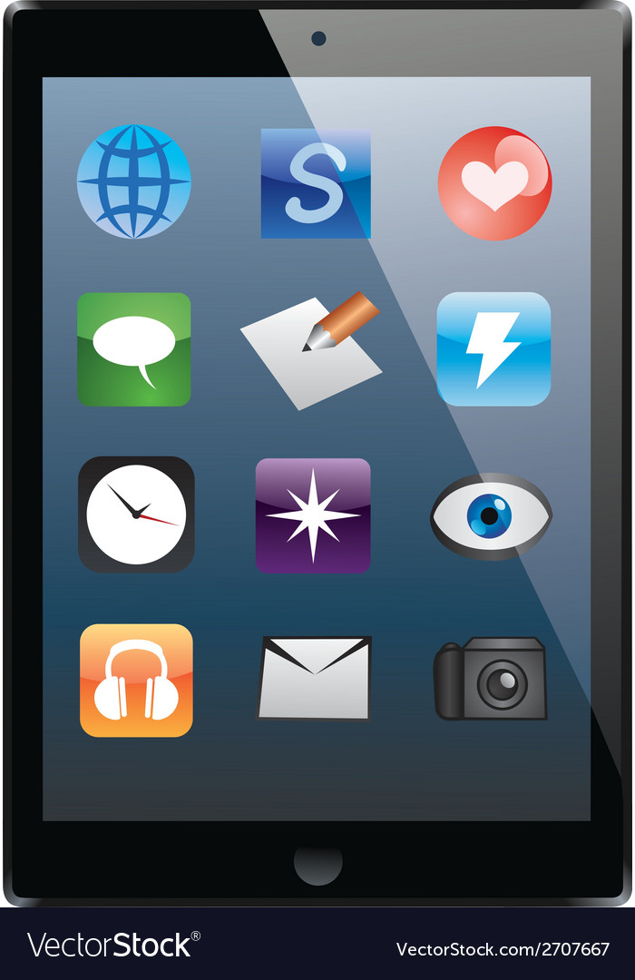 Electronic tablet vector   Price: 1 Credit (USD $1)