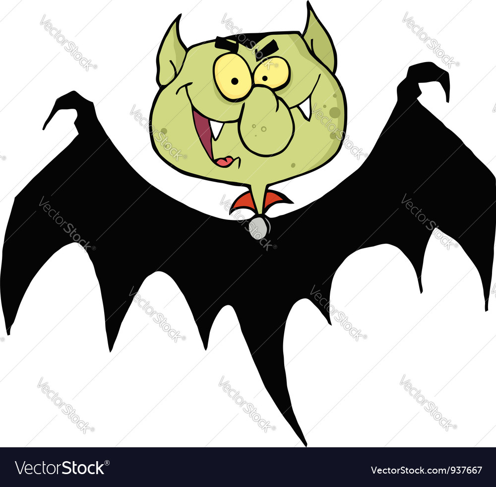 Flying vampire vector | Price: 1 Credit (USD $1)