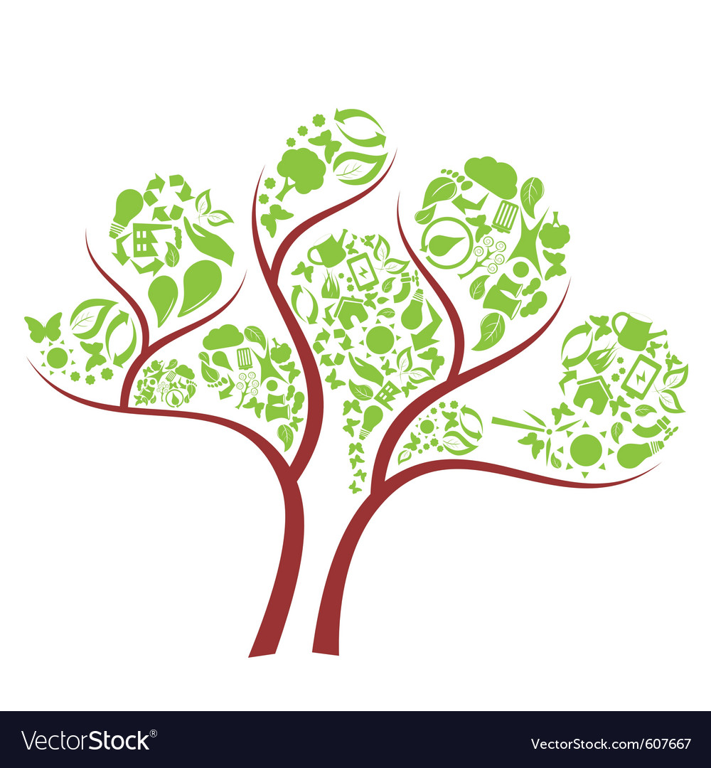 Icon eco tree vector | Price: 1 Credit (USD $1)