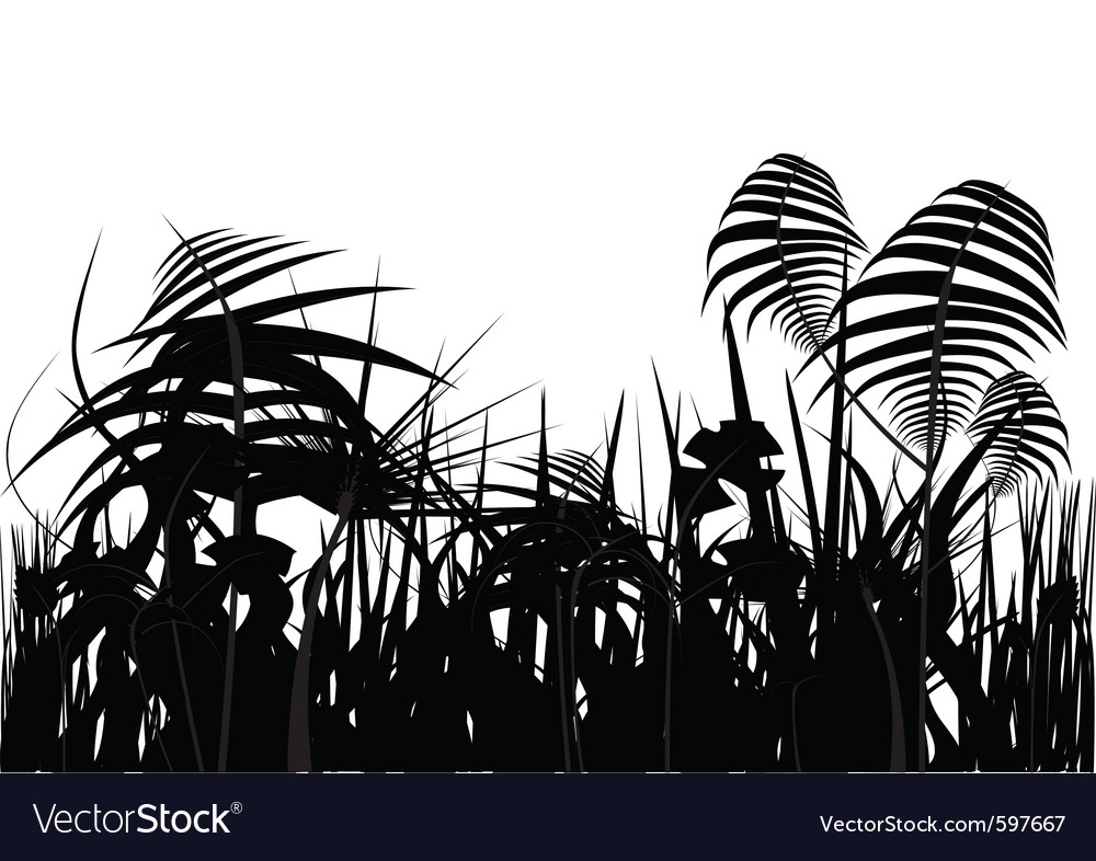 Jungle silhouette vector | Price: 1 Credit (USD $1)