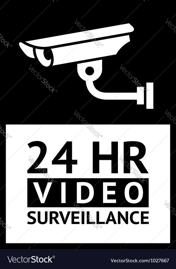Label cctv symbol vector | Price: 1 Credit (USD $1)