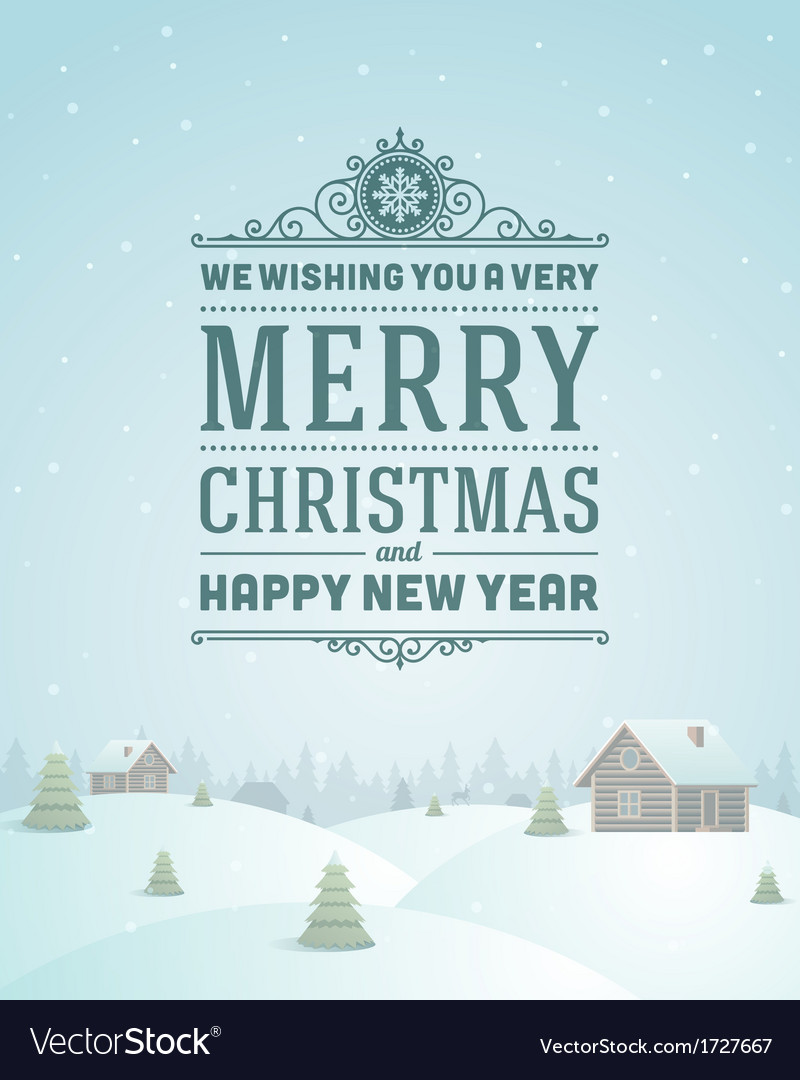 Merry christmas greeting card ornament vector | Price: 1 Credit (USD $1)