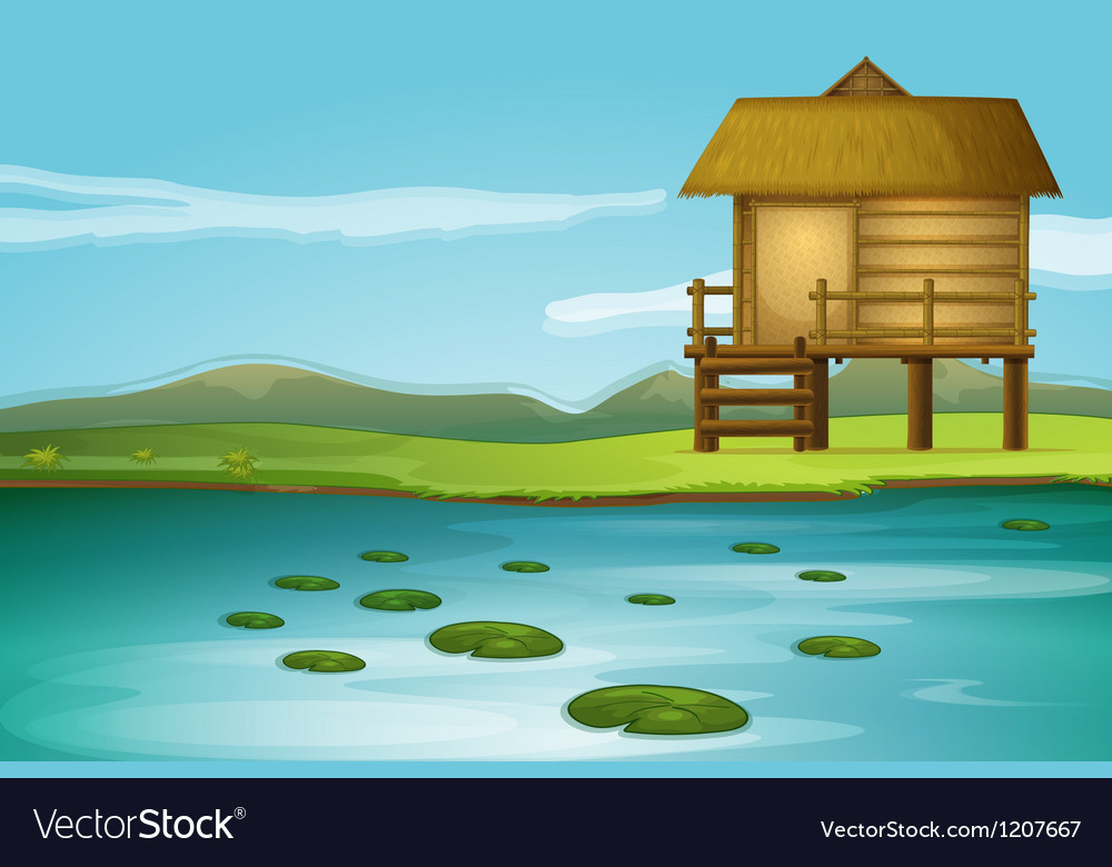 River cottage vector | Price: 1 Credit (USD $1)