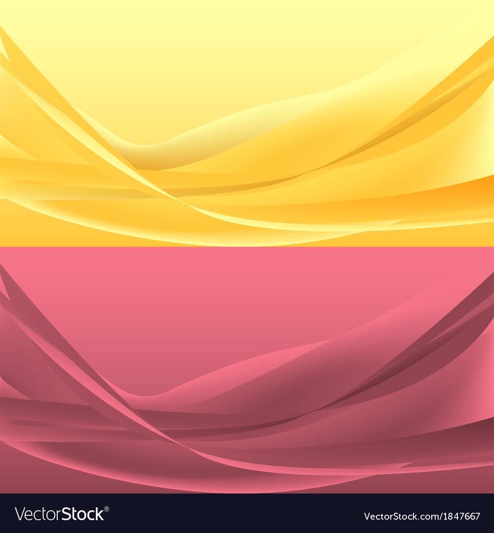 Set of yellou and rose waves vector | Price: 1 Credit (USD $1)