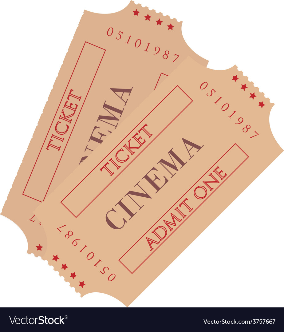 Two cinema ticket vector | Price: 1 Credit (USD $1)