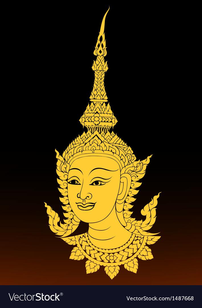 Angle thai motifs vector | Price: 1 Credit (USD $1)