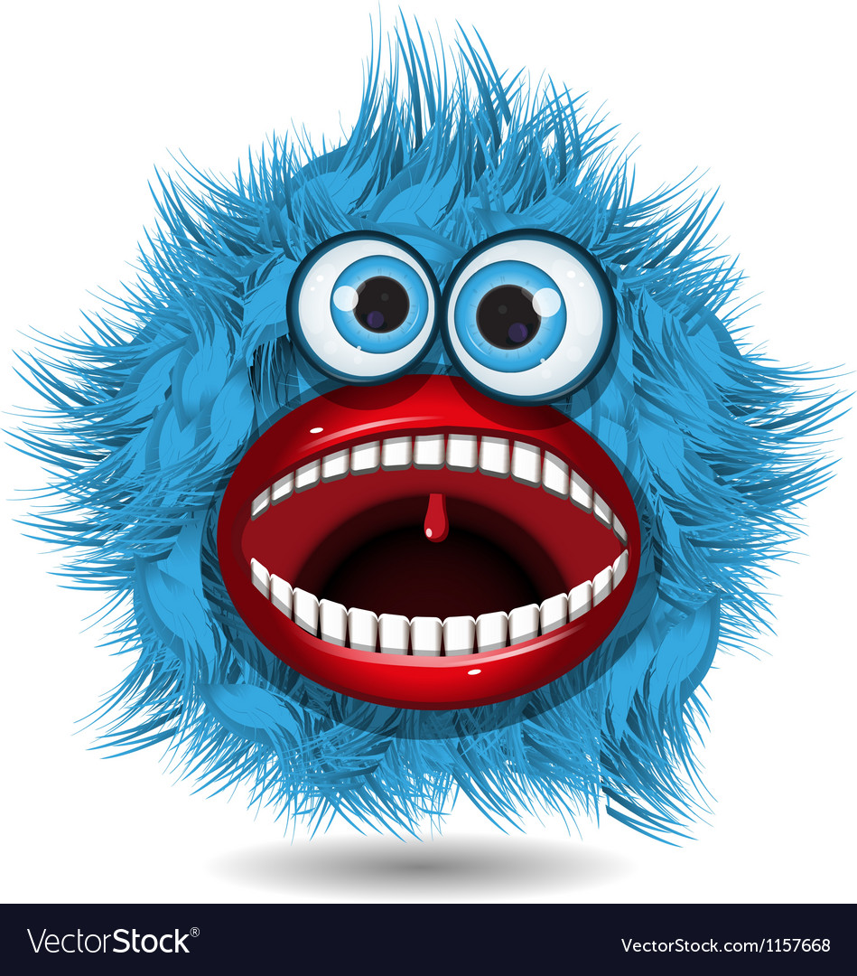 Blue monster vector | Price: 1 Credit (USD $1)