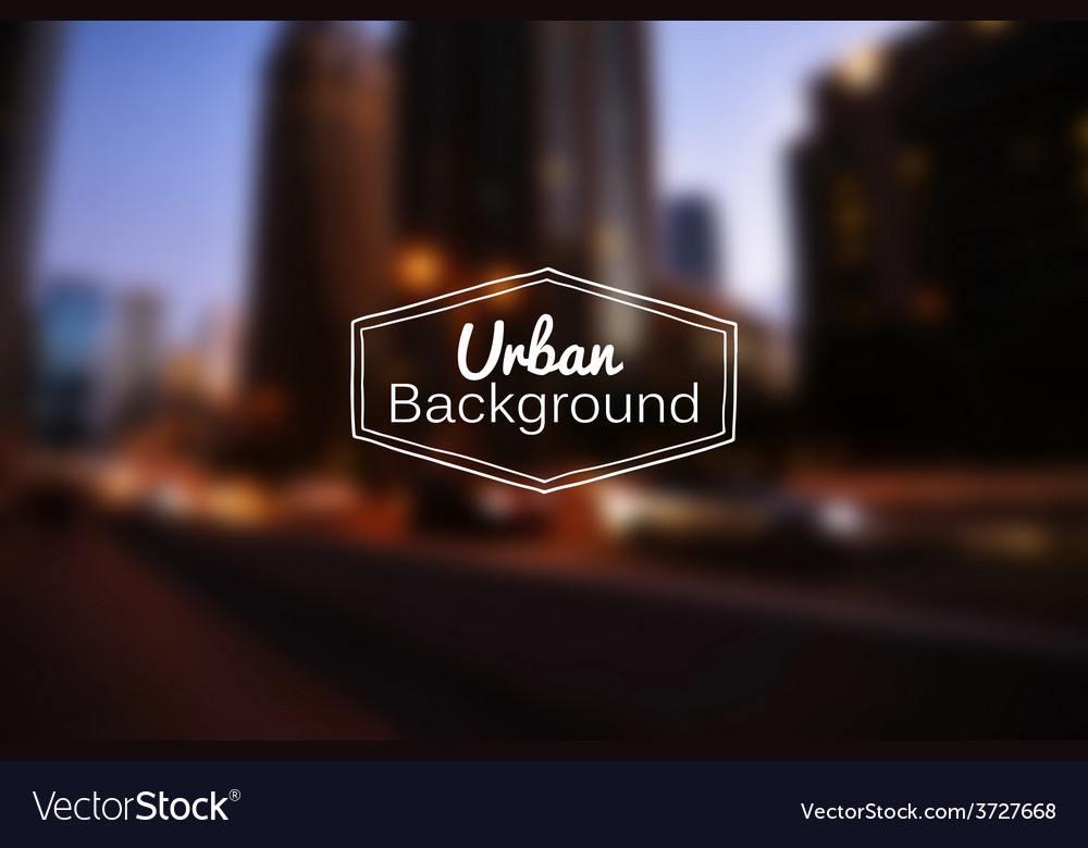 Blurred urban background night city vector | Price: 1 Credit (USD $1)