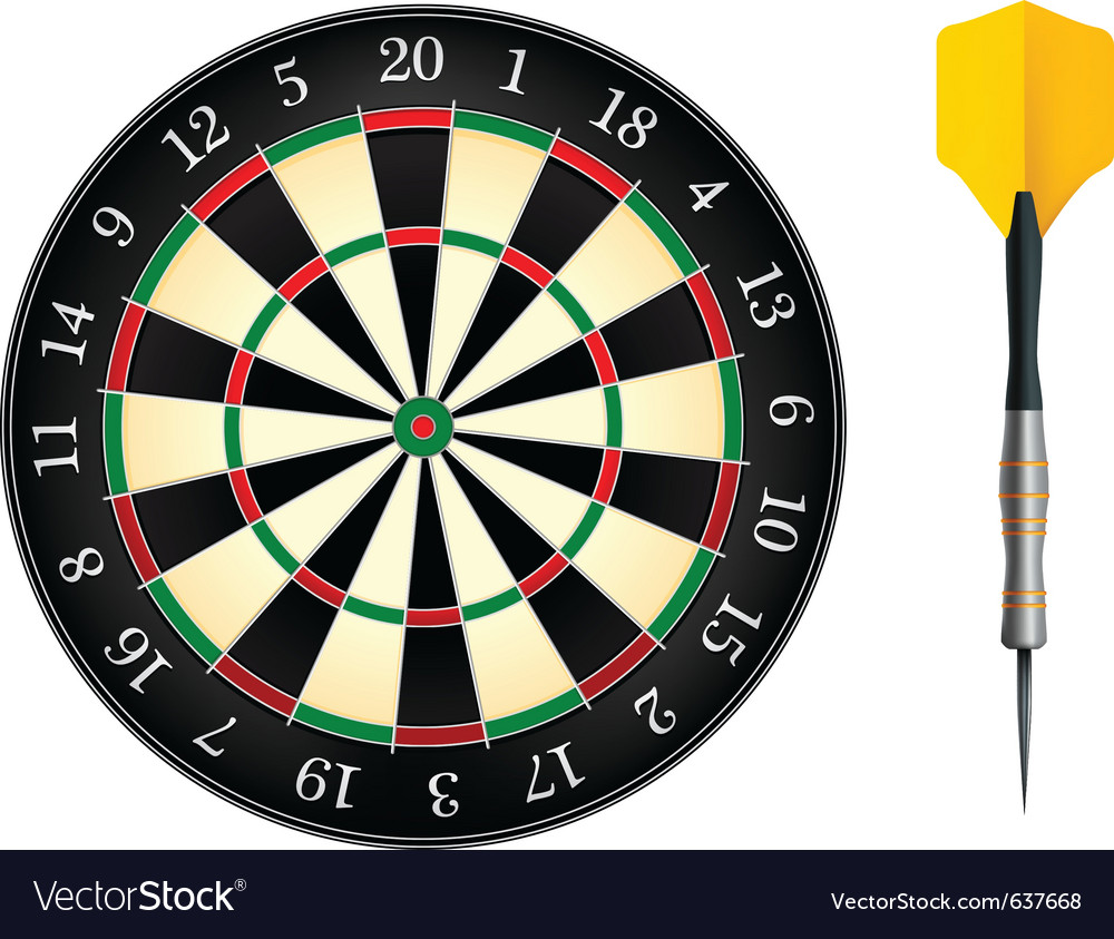 Darts board vector | Price: 1 Credit (USD $1)
