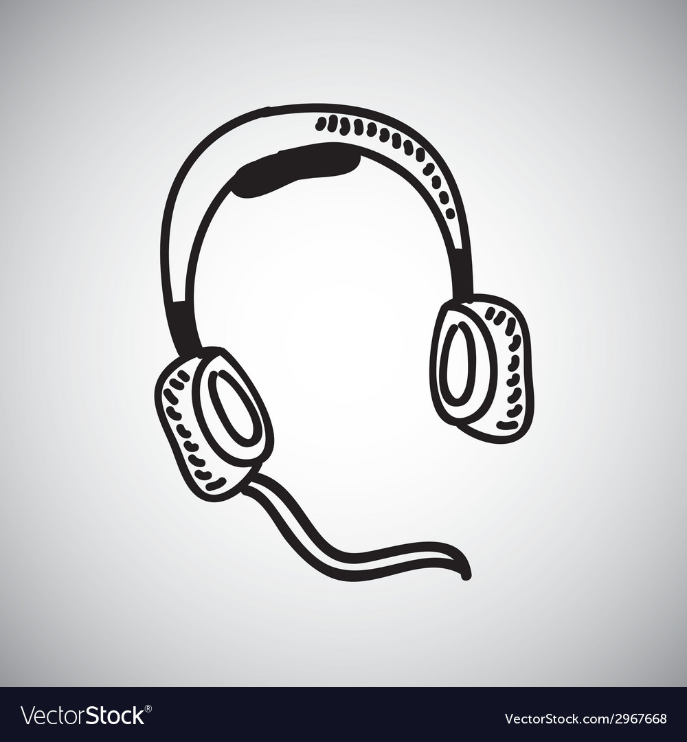 Headphones design vector | Price: 1 Credit (USD $1)