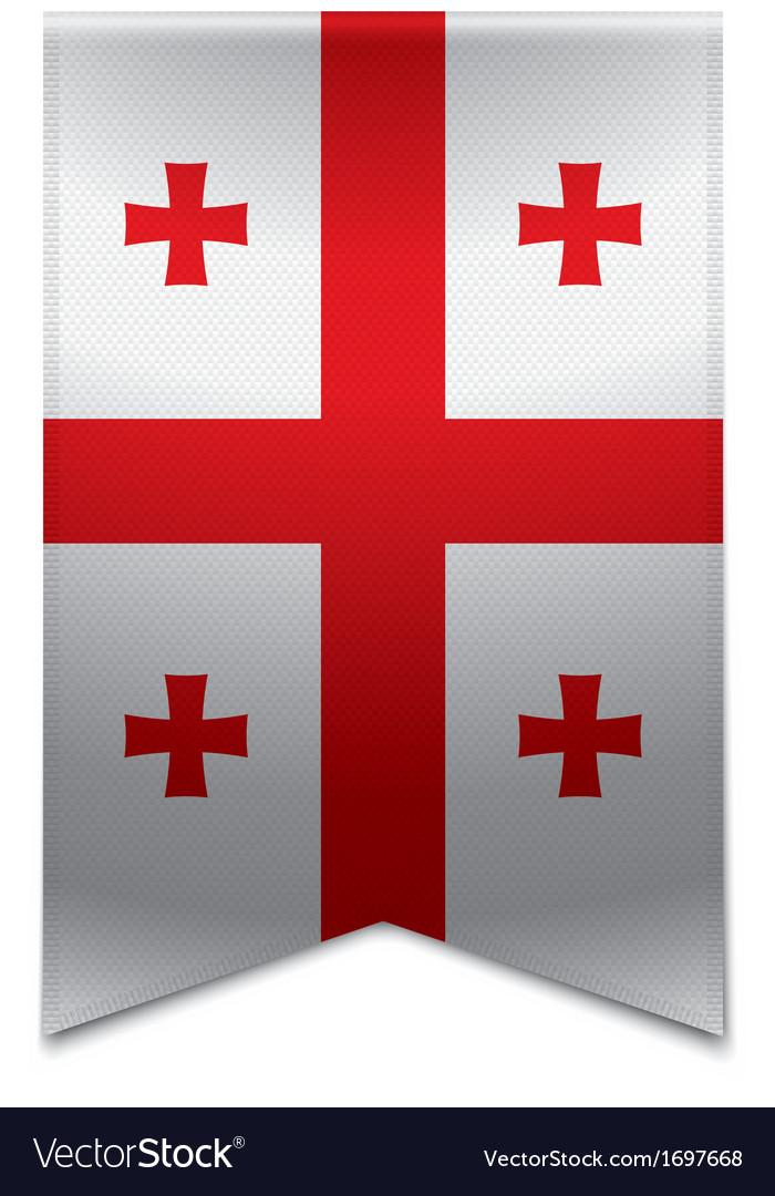Ribbon banner - georgian flag vector | Price: 1 Credit (USD $1)