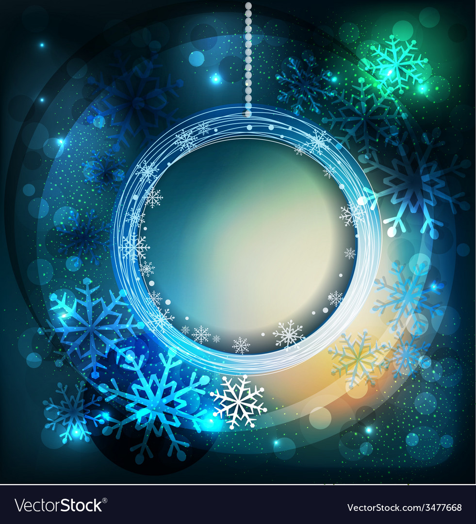 Shiny holiday background with snowflakes and frame vector | Price: 3 Credit (USD $3)