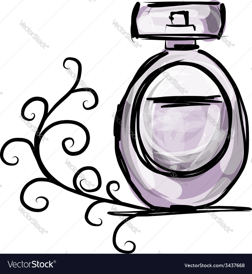 Sketch of perfume bottle for your design vector | Price: 1 Credit (USD $1)