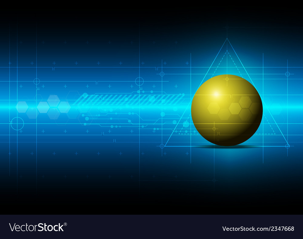 Sphere metric concept technology vector | Price: 1 Credit (USD $1)