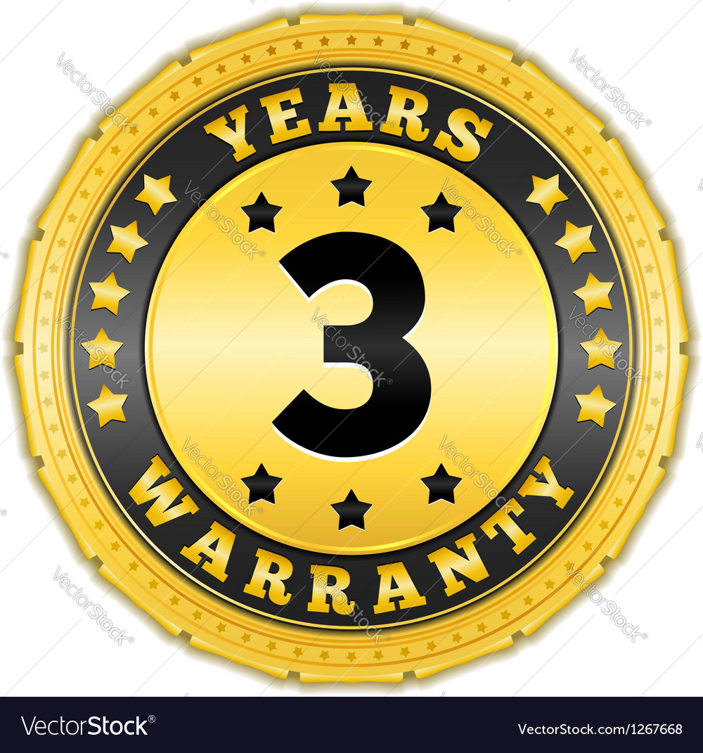 Three years warranty badge vector | Price: 1 Credit (USD $1)