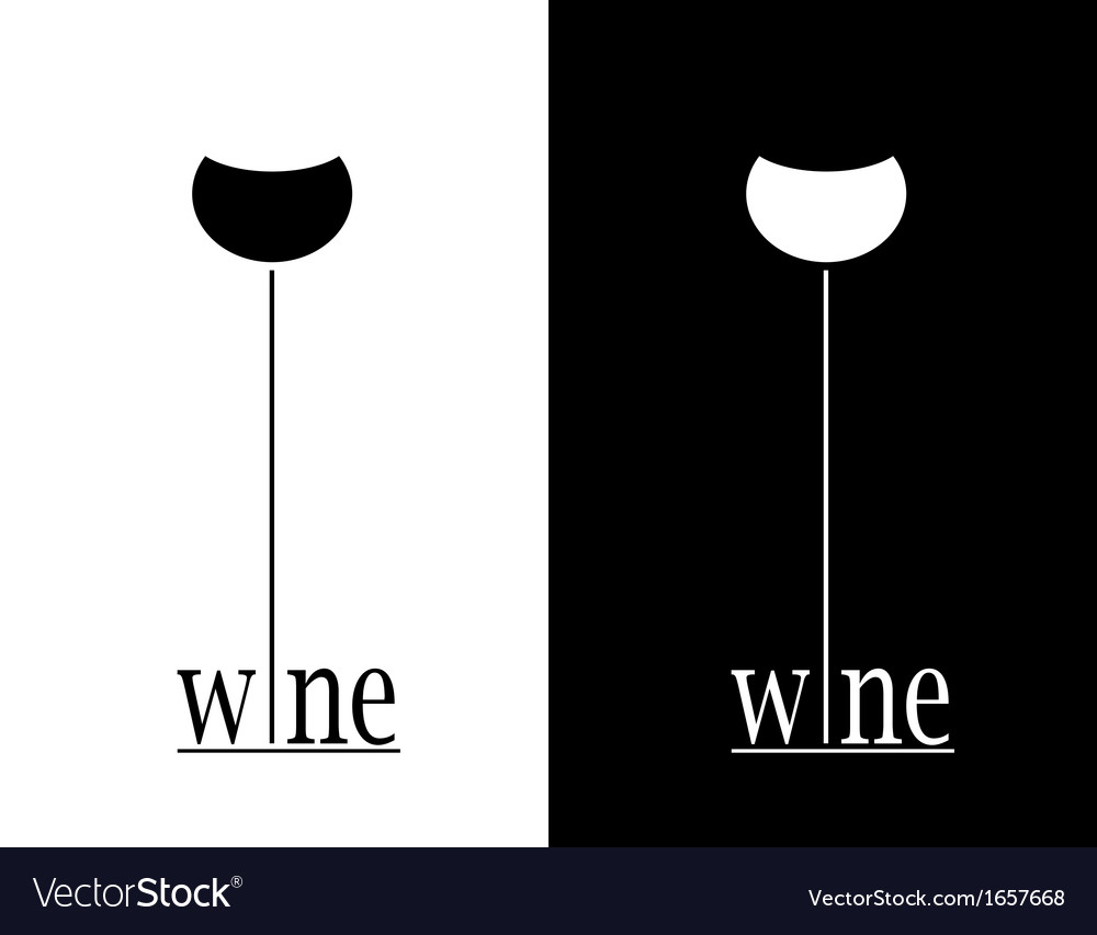 Wine sign vector | Price: 1 Credit (USD $1)