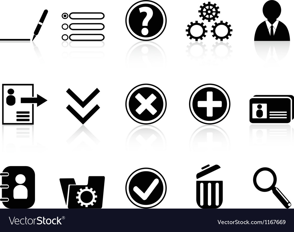Black internet account settings icon vector | Price: 1 Credit (USD $1)