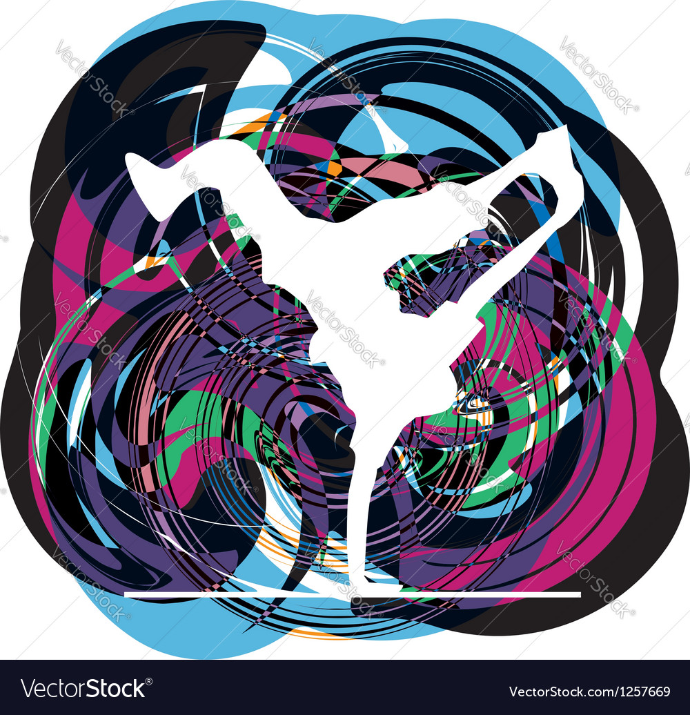 Breakdancer dancing on hand stand vector | Price: 1 Credit (USD $1)