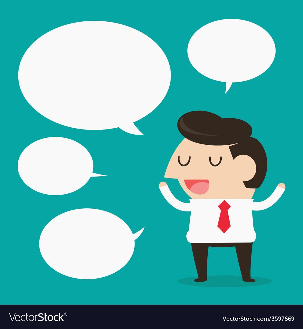 Businessman talking vector | Price: 1 Credit (USD $1)