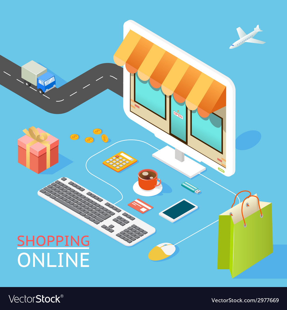 Concept of online shop vector | Price: 1 Credit (USD $1)