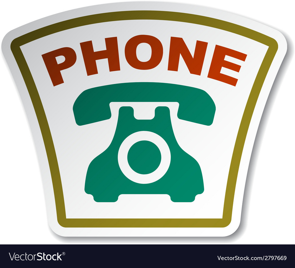 Old phone sticker vector | Price: 1 Credit (USD $1)