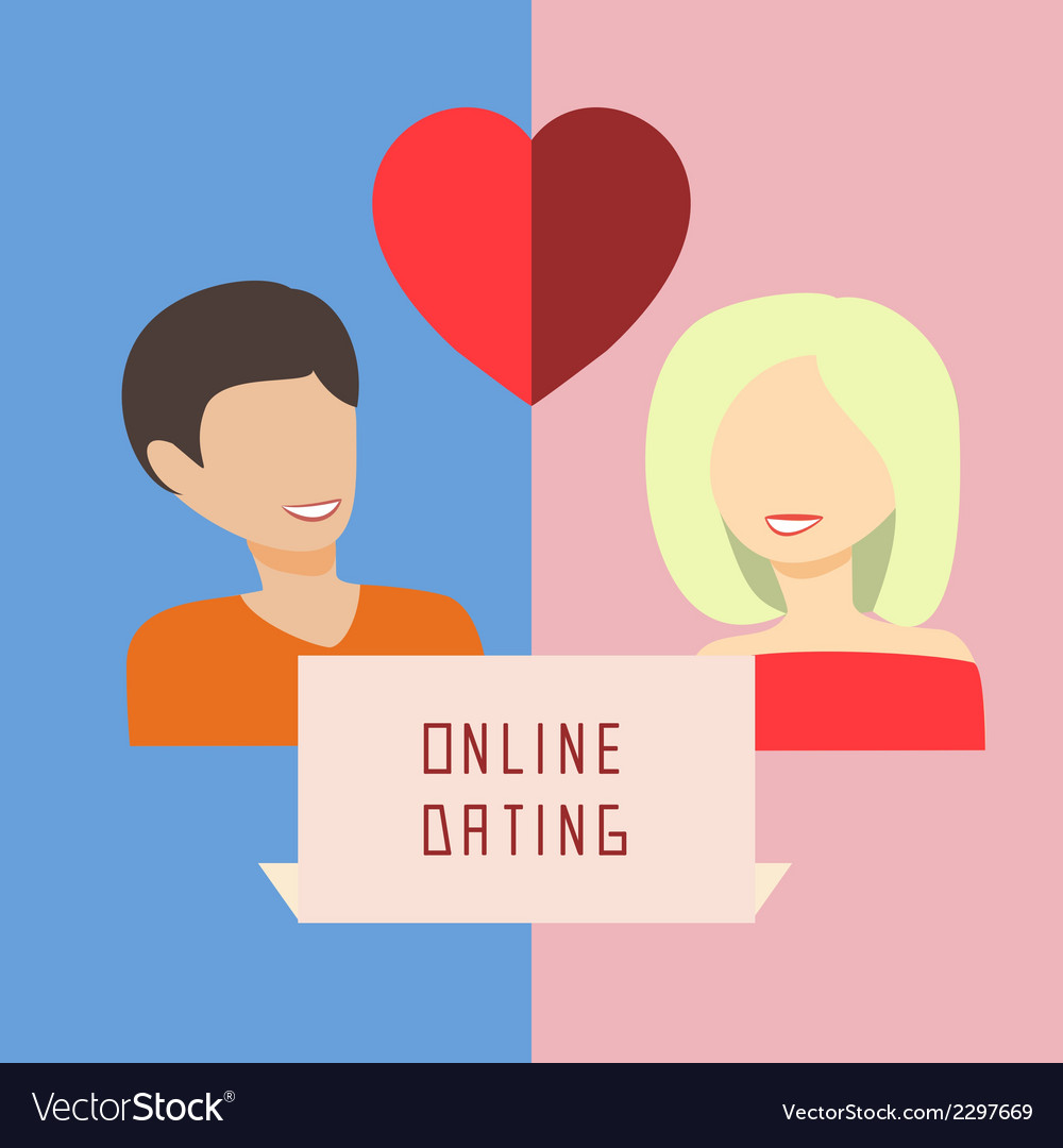 Online dating vector | Price: 1 Credit (USD $1)