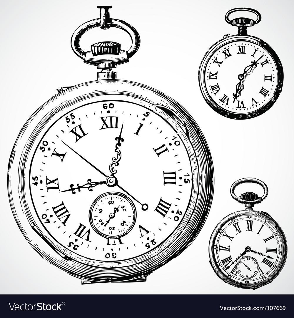 Retro watches vector | Price: 1 Credit (USD $1)