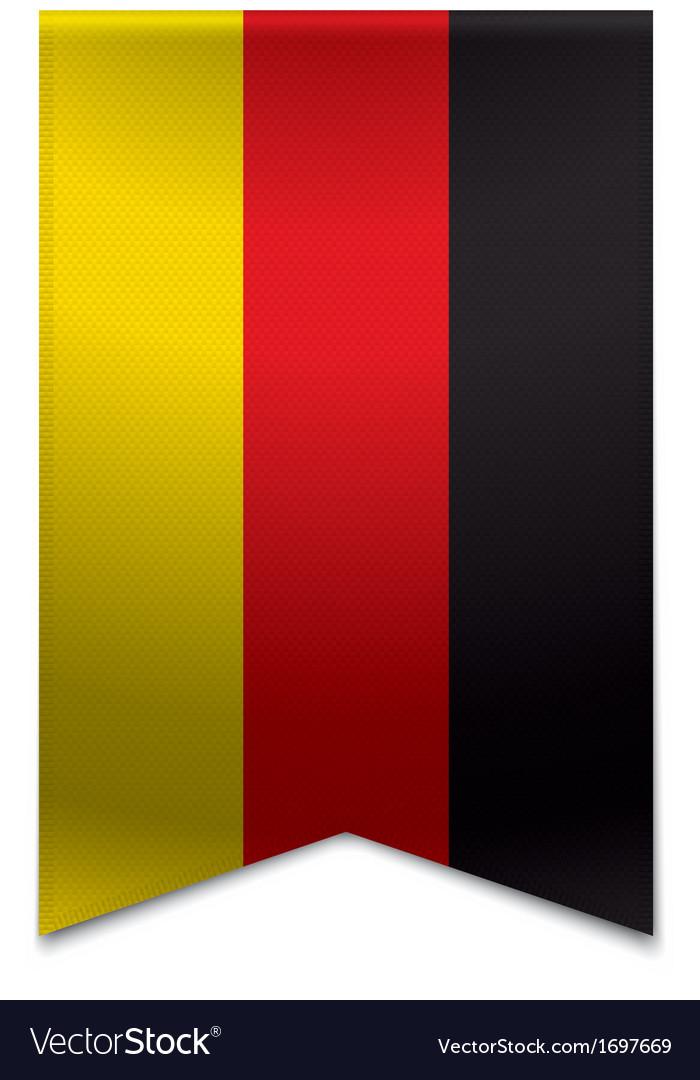 Ribbon banner - german flag vector | Price: 1 Credit (USD $1)
