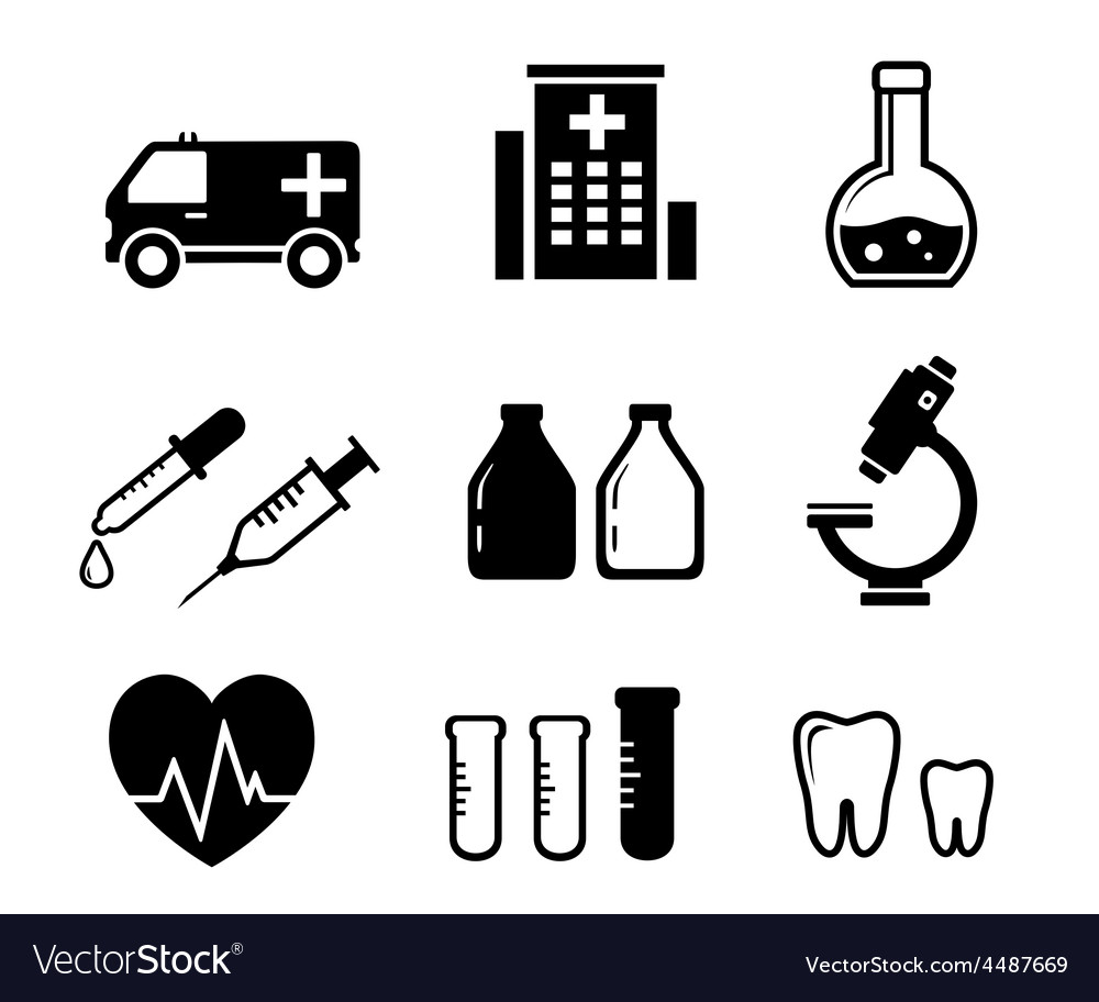 Set icons for medicine industry vector | Price: 1 Credit (USD $1)