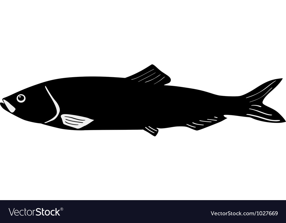 Silhouette of herring vector | Price: 1 Credit (USD $1)