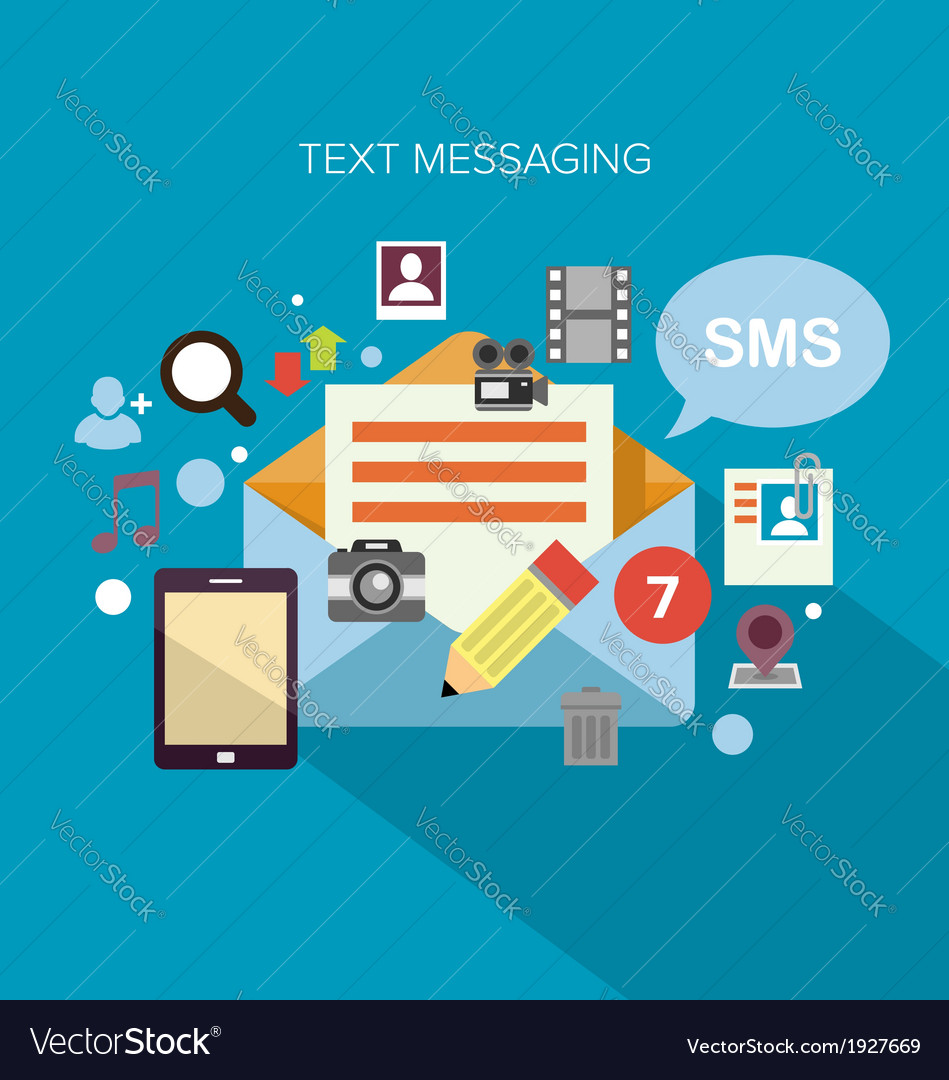 Text messaging vector | Price: 1 Credit (USD $1)
